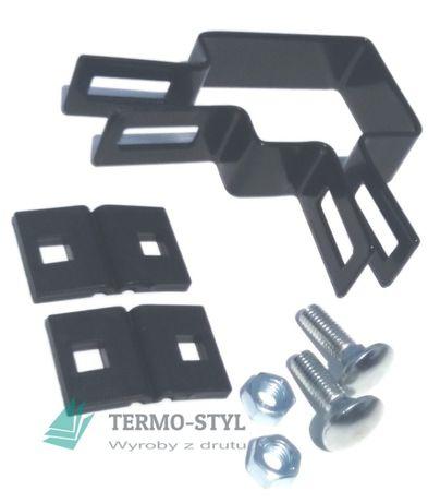 Obejma do paneli 60x40 narożna: ocynk, ocynk+RAL PRODUCENT