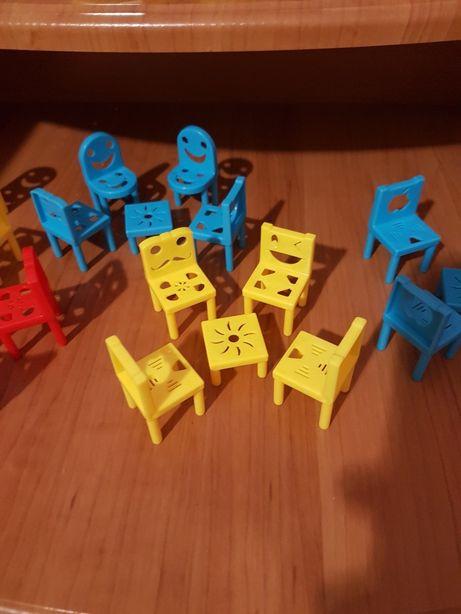 Мебель для кукол, стол и стулья