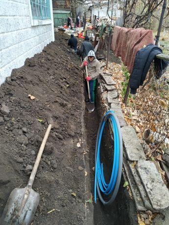 Земляные работы водопровод канализация под ключ.
