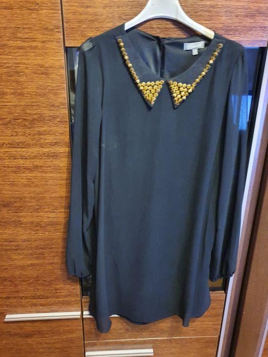 Sukienka tunika czarna ćwieki r. S/M Łomża - image 1