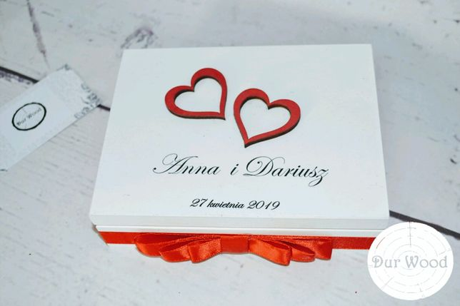 Pudełko na obrączki ślubne zestawy koperty