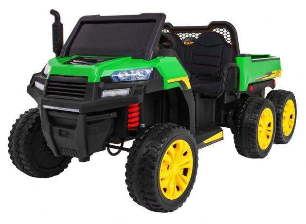 Ciężarówka 6 kołowa dla dzieci traktor na akumulator - zobacz na żywo