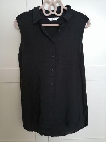 Czarna koszula na szerokich ramiączkach