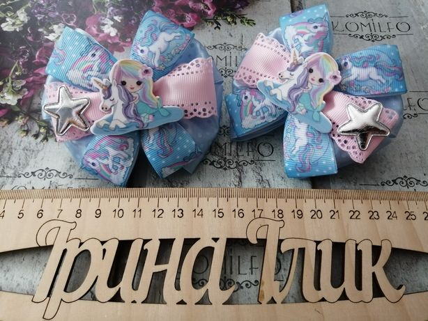 банты, резинки, резиночки, украшения, для волос, единорог, unicorn