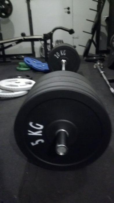 Bumpery obciążenie olimp 100 kg , gryf olimpijski 220 cm 20 kg - NOWE,