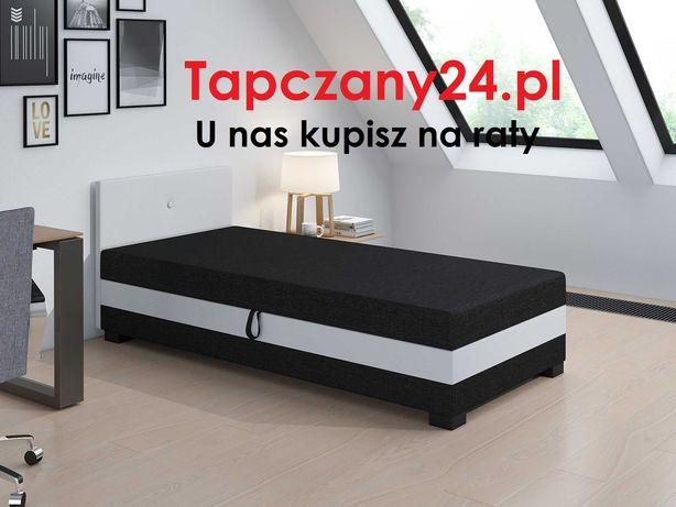 Łóżko młodzieżowe Tapczan jednoosobowy +pojemnik +materac