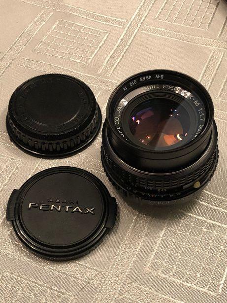 Obiektyw SMC Pentax-M 1.7/50mm PENTAX PK + filtr szklany B+W