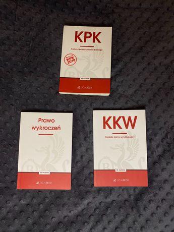 Zestaw kodeksów - KPK, KKW, Prawo wykroczeń