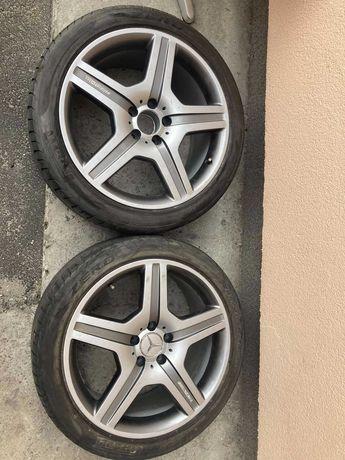 Пара летних колес шин Mercedes S-class W221 AMG 5x112 255/40 R19 100Y.