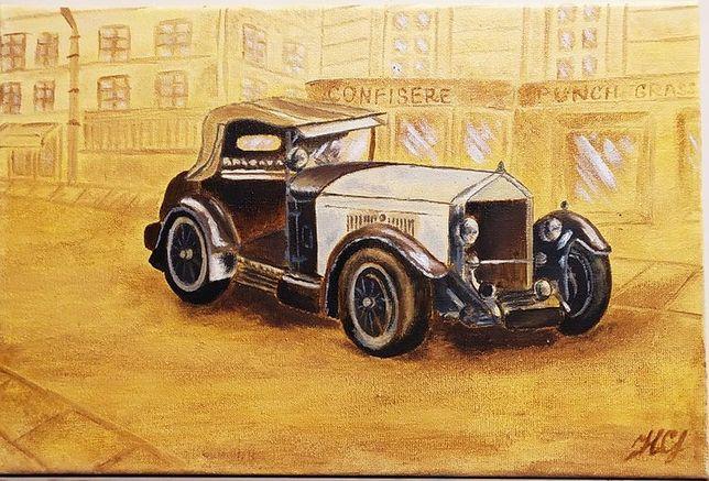 Картина маслом ретро авто