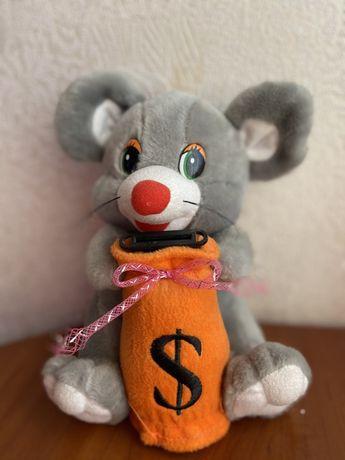 Мыша мышка копилка мягкая игрушка подарок