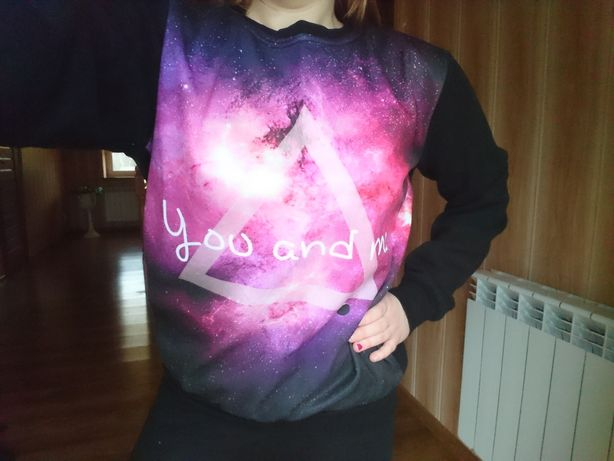 Bluza M/L galaxy you and me