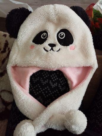 Czapka Panda zimowa dziecięca