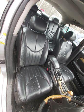 Fotele przód kanapa czarna skóra Jaguar s-type 2001r