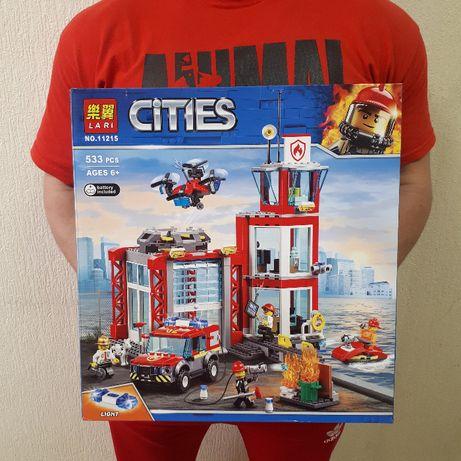 Лего Пожарная станция Конструктор Cities 533 шт Bela 11215