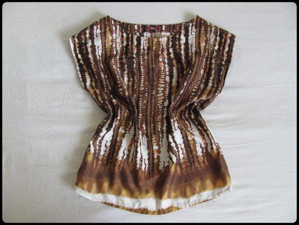 Viceversa brązowa bluzka we wzorki rozmiar 40 L