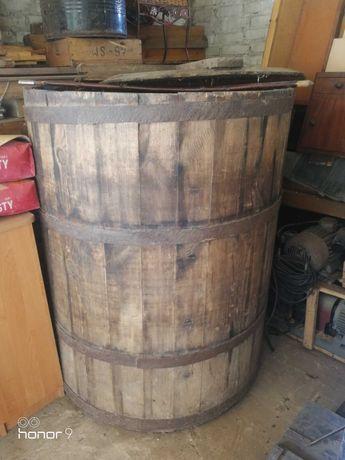 Duża stara beczka balia drewniana