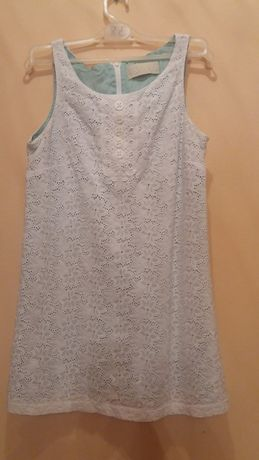 Sukienka marki river island rozmiar 38 biało zielona