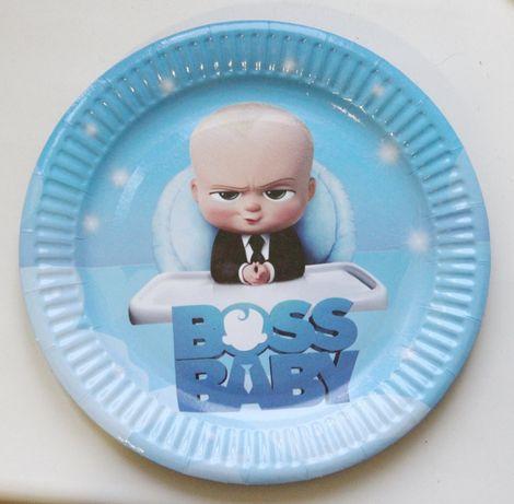 БОСС Молокосос тарелки, стаканы, трубочки скатерть колпаки гудки шар