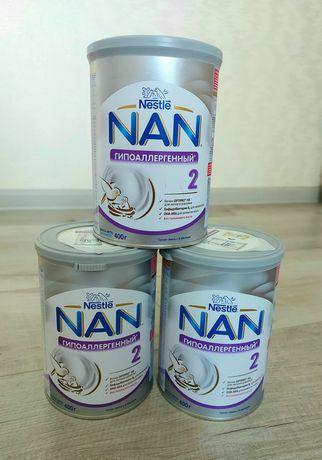 NAN гипоаллергенный 2 детская смесь