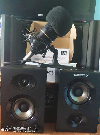 FULL ZESTAW Focusrite Interfejs Audio, Odsłuch, EKRAN Mikrofon XML 770