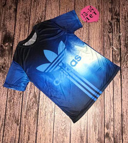 Фирменная футболка Adidas для мальчика 13-14 лет, 158-164 см