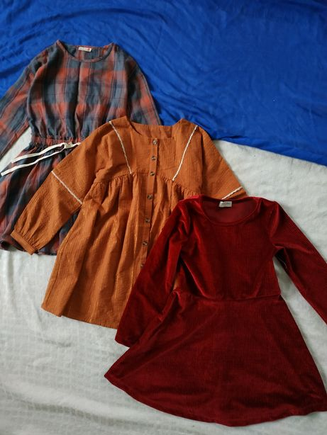Платье рубашка оверсайз плаття, на довгий рукав 5-6 р