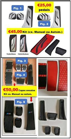 PROMOÇÃO Capas Pedal cx. manual ou automática para  BMW