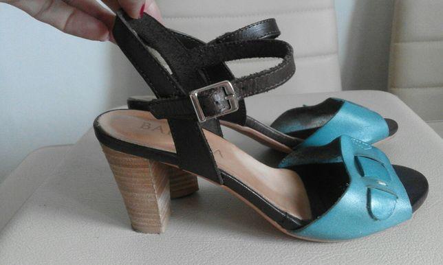 Śliczne sandały Badura 37 skórzane jak nowe