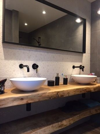 Blat łazienkowy z litego drewna 120 cm