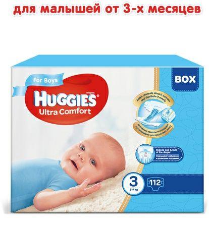 Huggies Ultra Comfort 3/112 для мал/дев