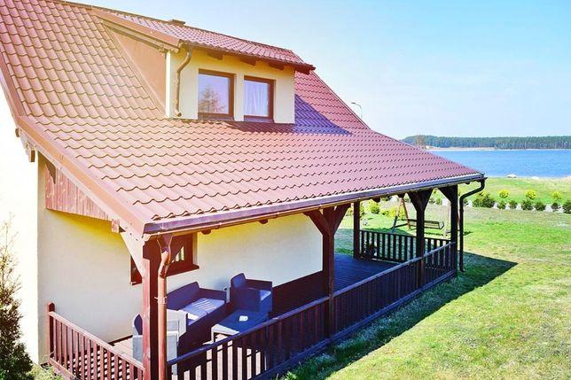 Dom nad jeziorem - Kaszuby - prywatna plaża, ogrzewanie domek wakacje