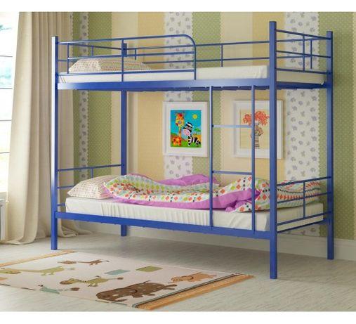 Двоповерхове металеве ліжко Емма колір на вибір