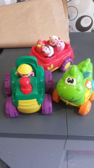 Zestaw zabawka smok + traktorek