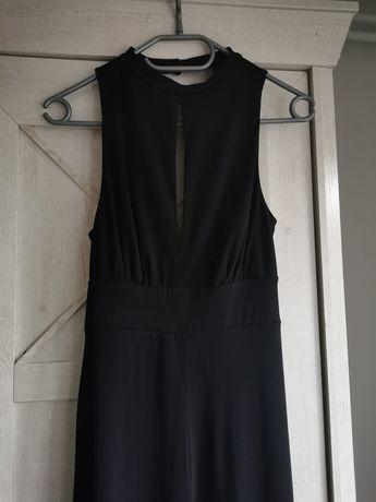 Kombinezon długi New Look czarny szerokie nogawki 38