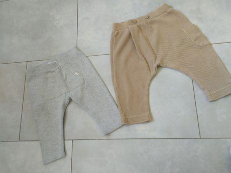 Spodnie ZARA 2 sztuki pary 68 74