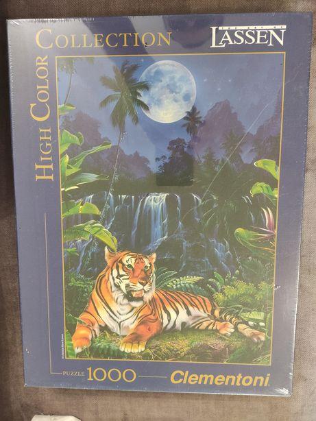 Новый итальянский пазл Clementoni 1000 Eyes of the tiger