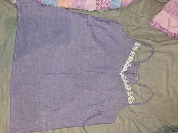 Liliowy top koszulka