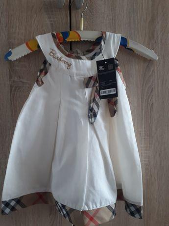 Sukienka dla małej damy Burberry rozmiar 110