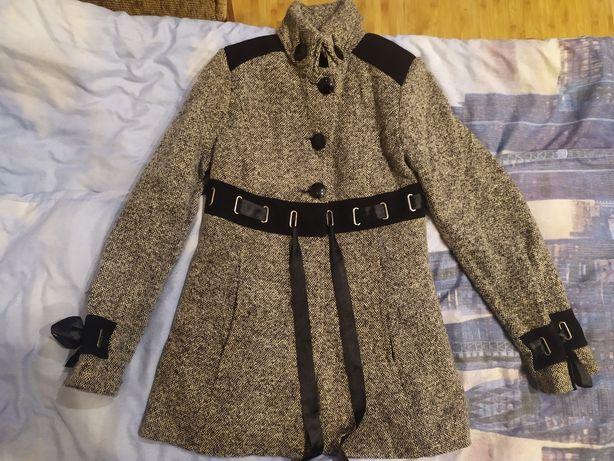 Женское детское серое пальто