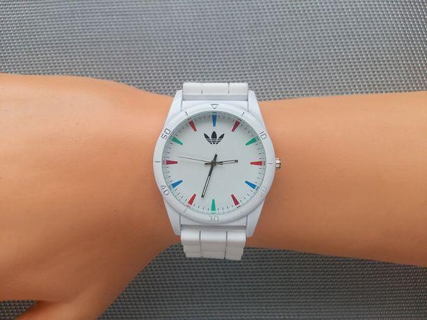 Zegarek Adidas sportowy, biały