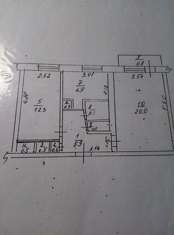 Продаётся 2-комнатная квартира в с.Бараниковка