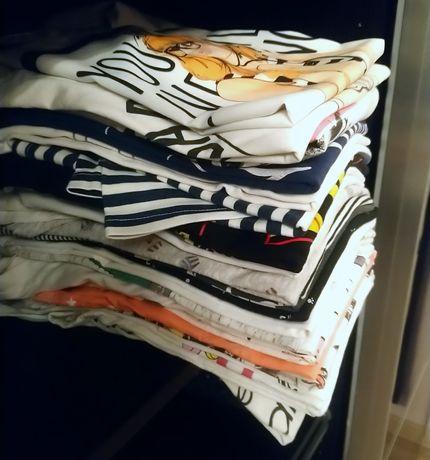Mega paka 40 rzeczy bluzki t-shirt szorty spodenki M 38 dodatki nowe