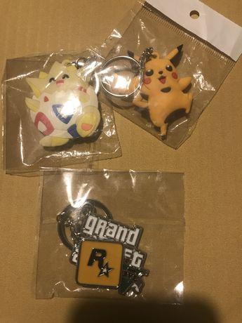 Breloczek do kluczy GTA V / Pokemon