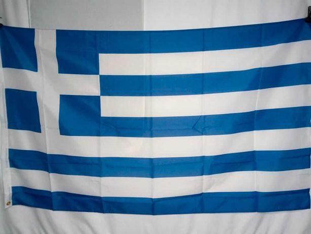 Флаг Греции 90х150см с полосой для крепления