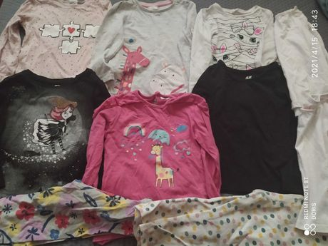 6 sztuk koszulek z długim rękawem 92 cm, H&M, cool club i inne +gratis