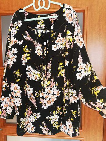 Bluzka w kwiaty duży rozmiar