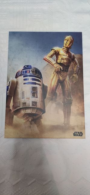 Poster Plate Star Wars - R2D2 C3P0