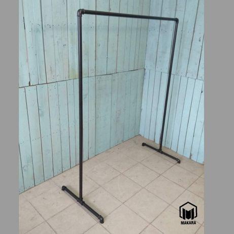 №1 Вешалка Loft для одежды из труб лофт, стойка торговое оборудование