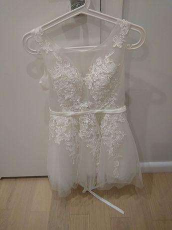 Biała koronkowa sukienka Ślub Wesele Sylwester